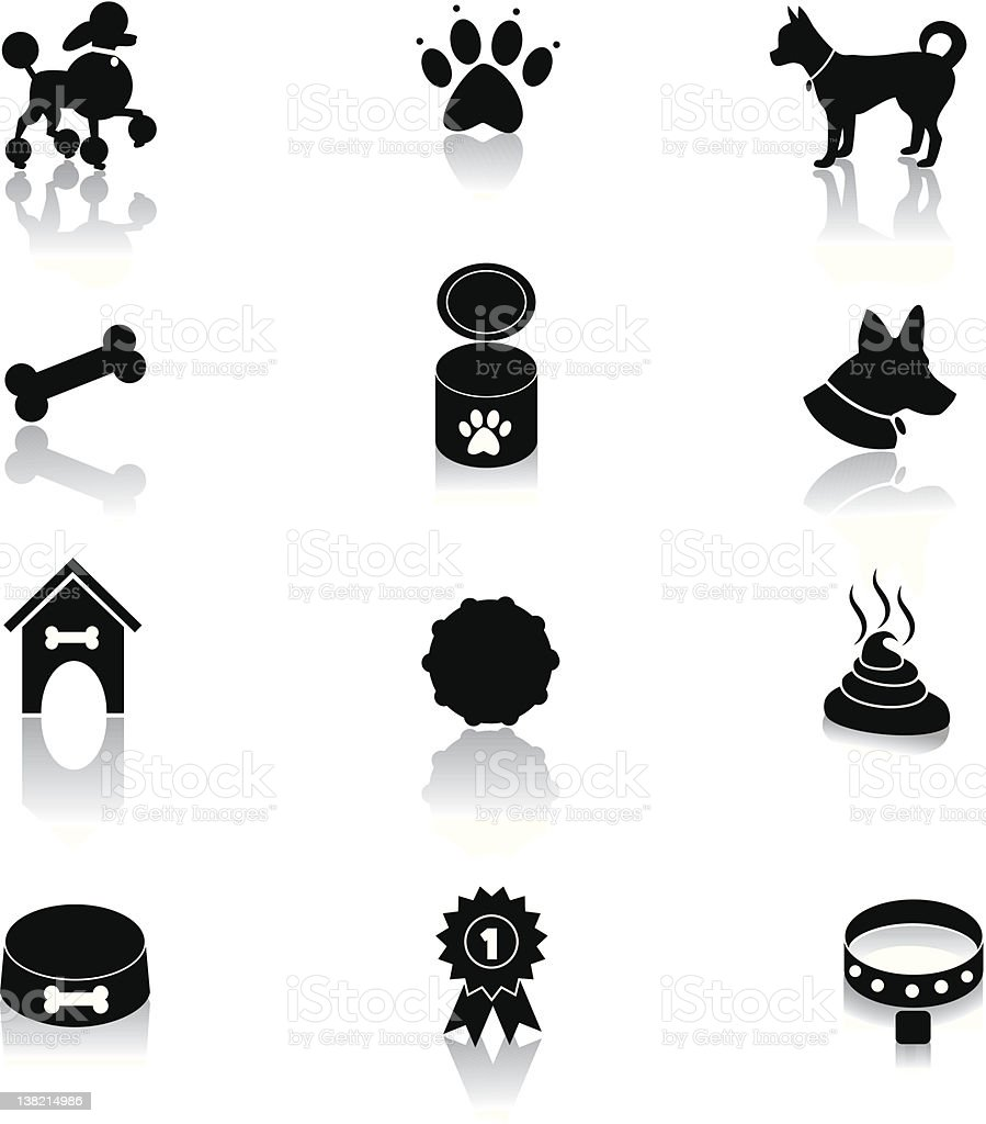 Dog Icons royalty-free stock vector art