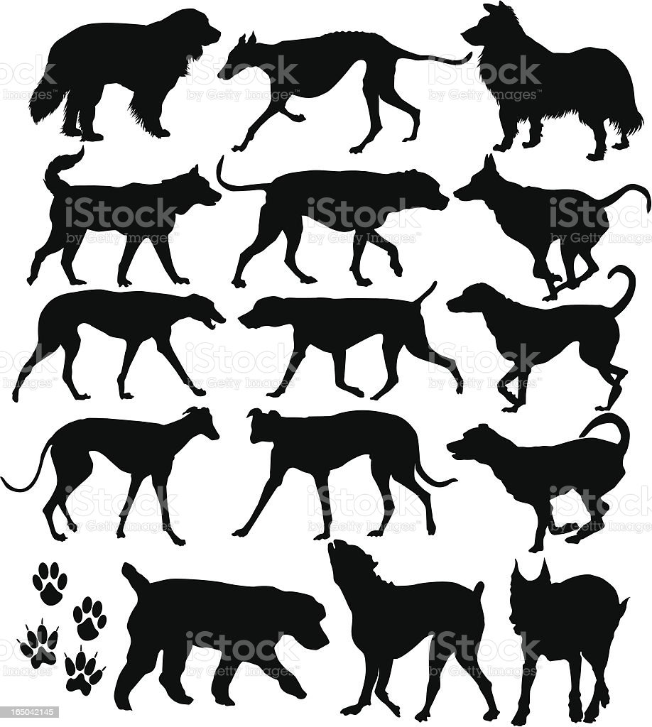 Dog Icons ( Vector ) vector art illustration