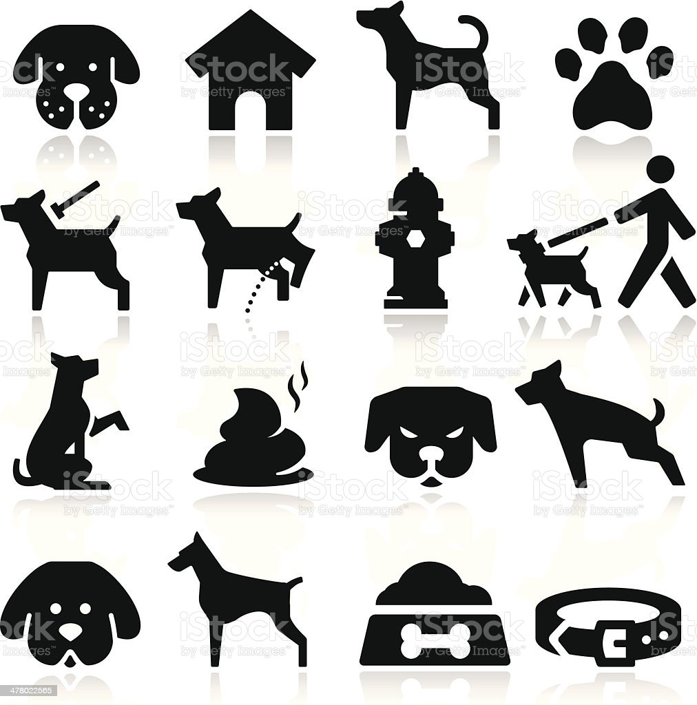 Dog Icons vector art illustration