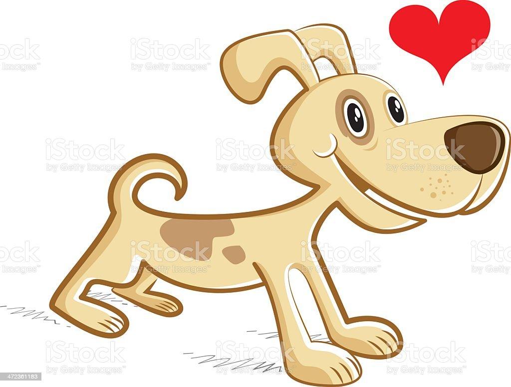 dog in love royalty-free stock vector art