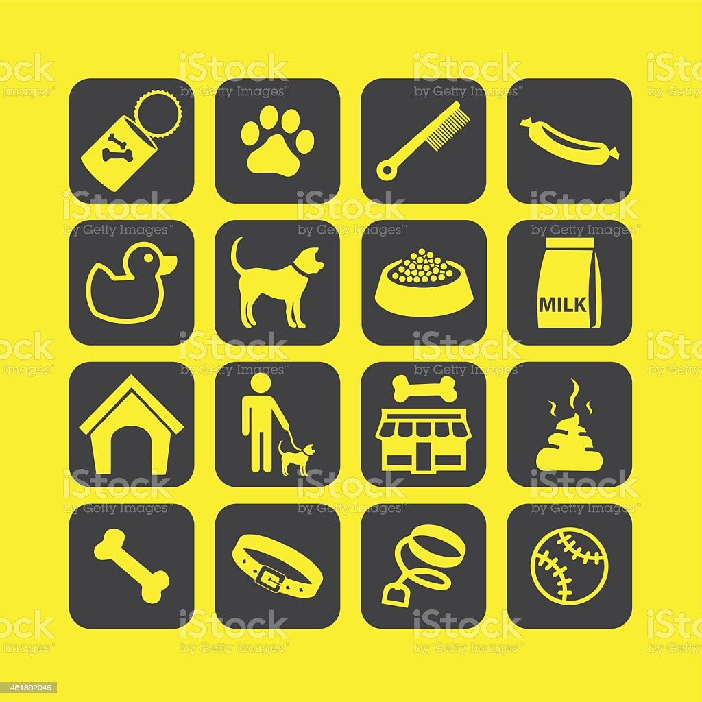 Dog life Icons set 01- Illustration vector art illustration
