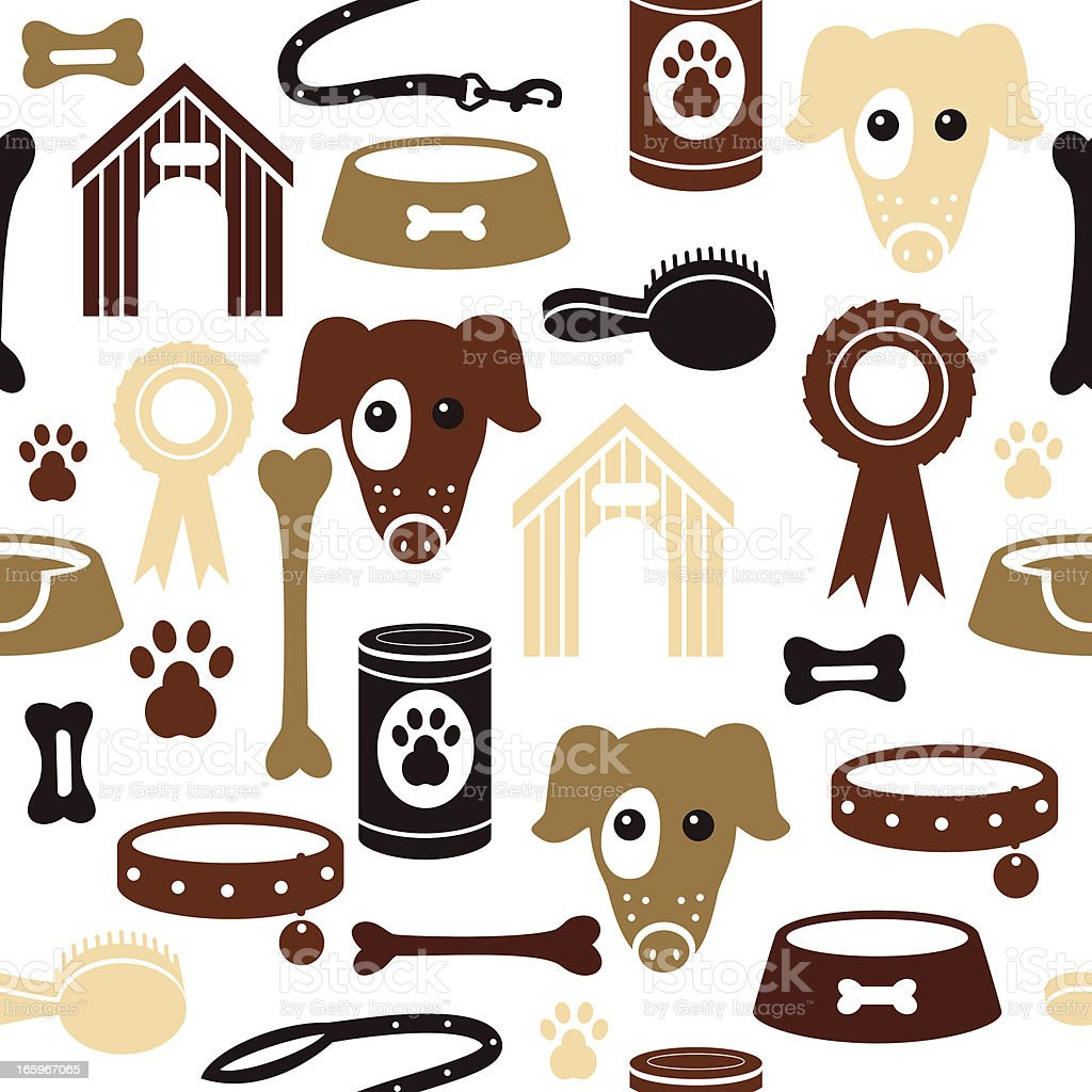 Dog Pattern royalty-free stock vector art