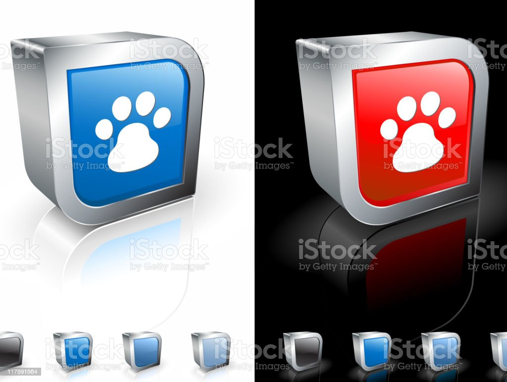 dog paw print 3D royalty free vector art royalty-free stock vector art
