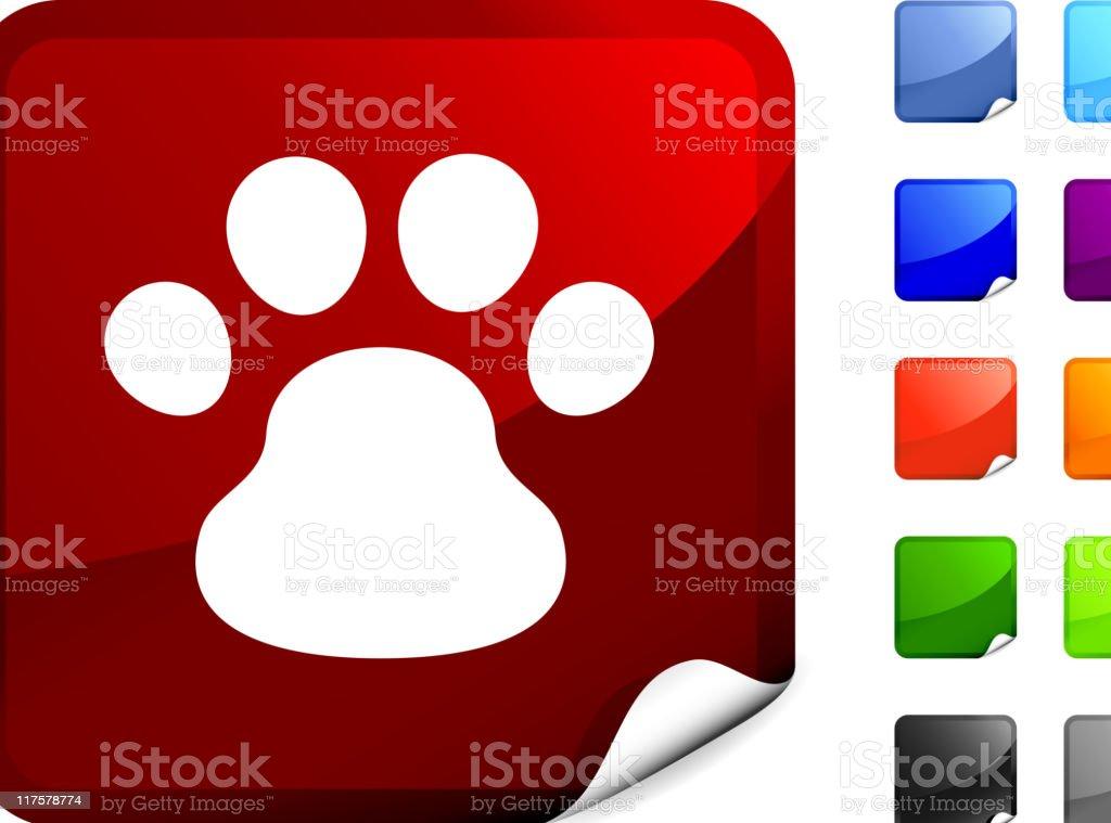 dog paw print internet royalty free vector art royalty-free stock vector art