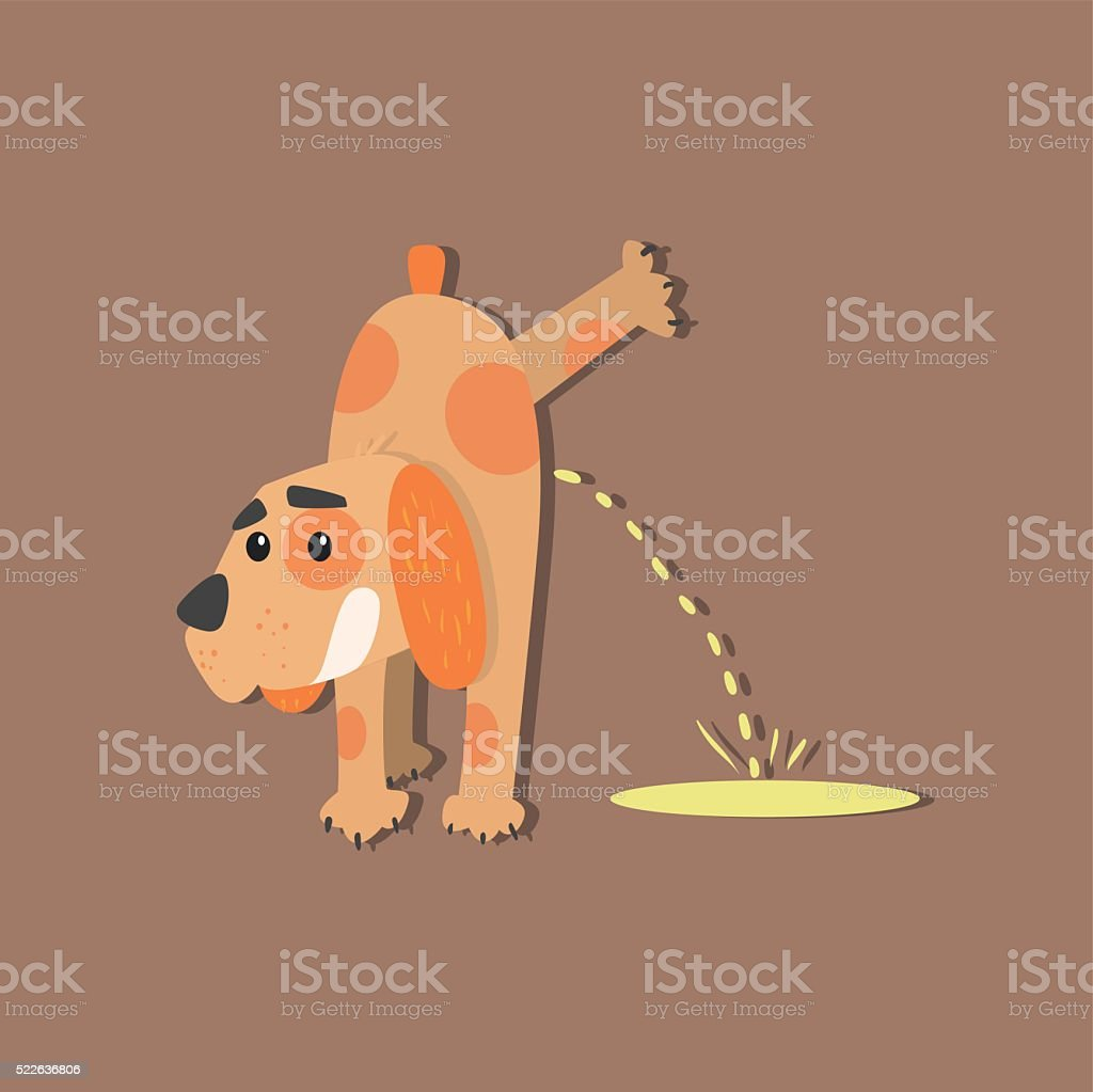 Dog Peeing Image vector art illustration