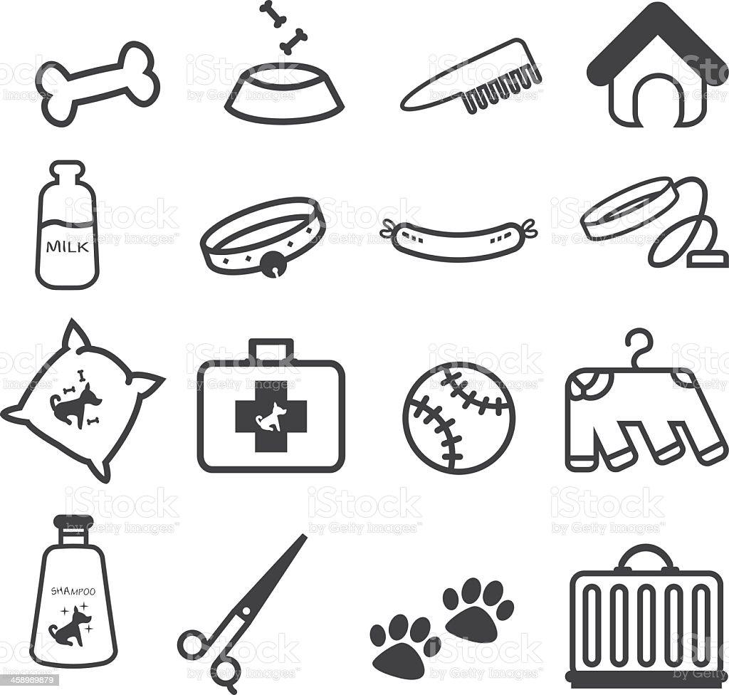 Dog Pet shop icons set Stock Illustration vector art illustration