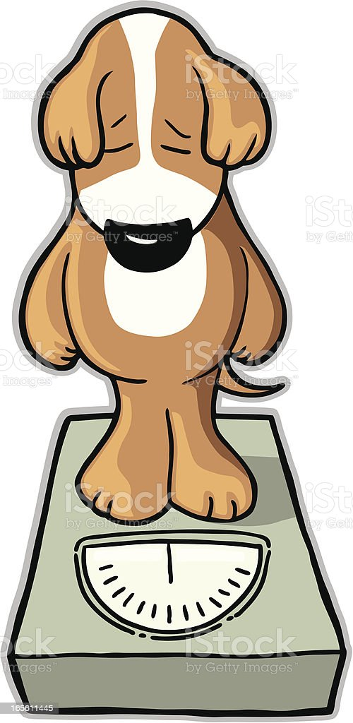 Dog pounds royalty-free stock vector art
