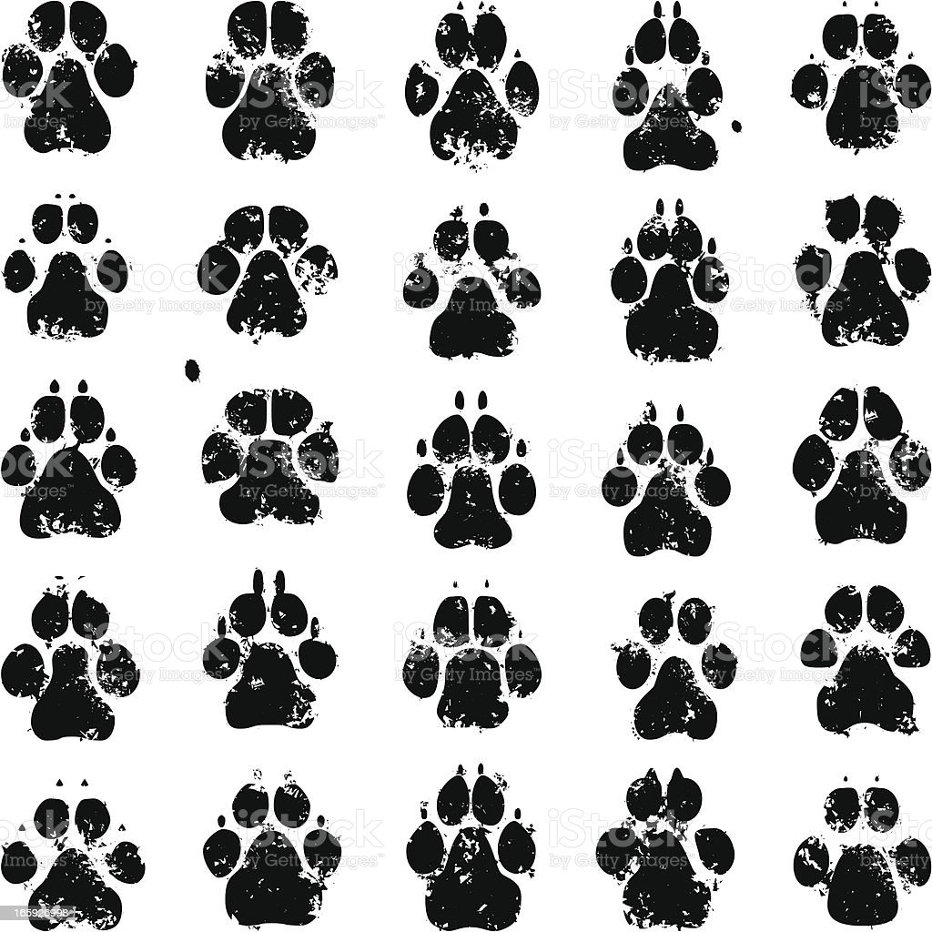 Dog Prints royalty-free stock vector art