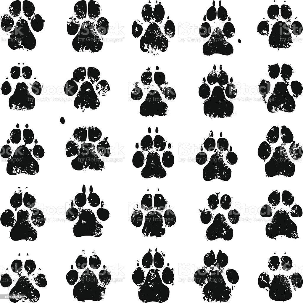 Dog Prints vector art illustration