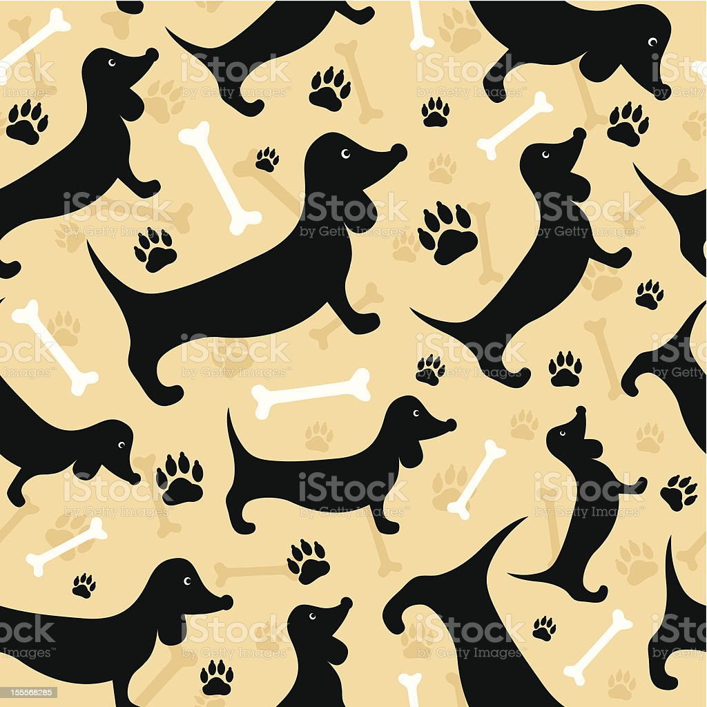 Dog seamless background royalty-free stock vector art