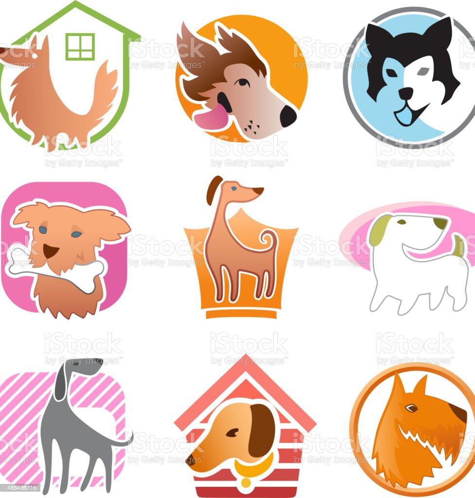 Dog Set royalty-free stock vector art