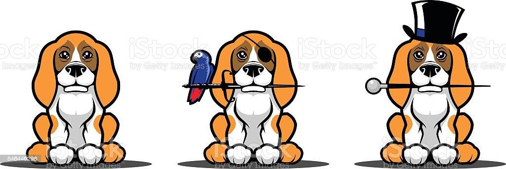 Dog set vector art illustration