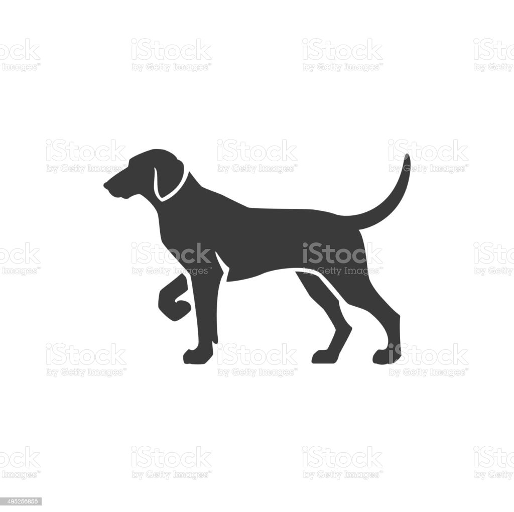 Dog Side View Isolated On White Background Vector object vector art illustration