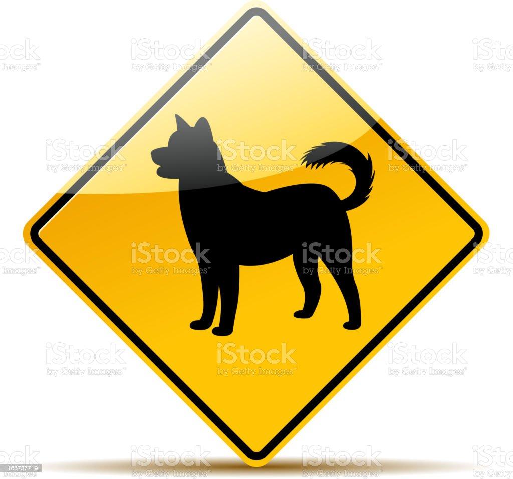 dog sign vector art illustration