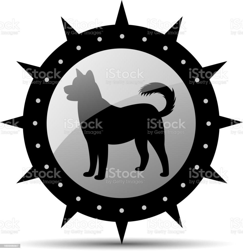 dog silhouette vector art illustration