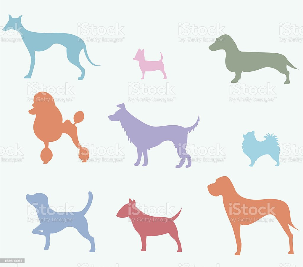 Dog silhouettes royalty-free stock vector art
