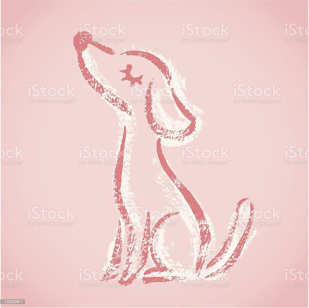 Dog sketch royalty-free stock vector art