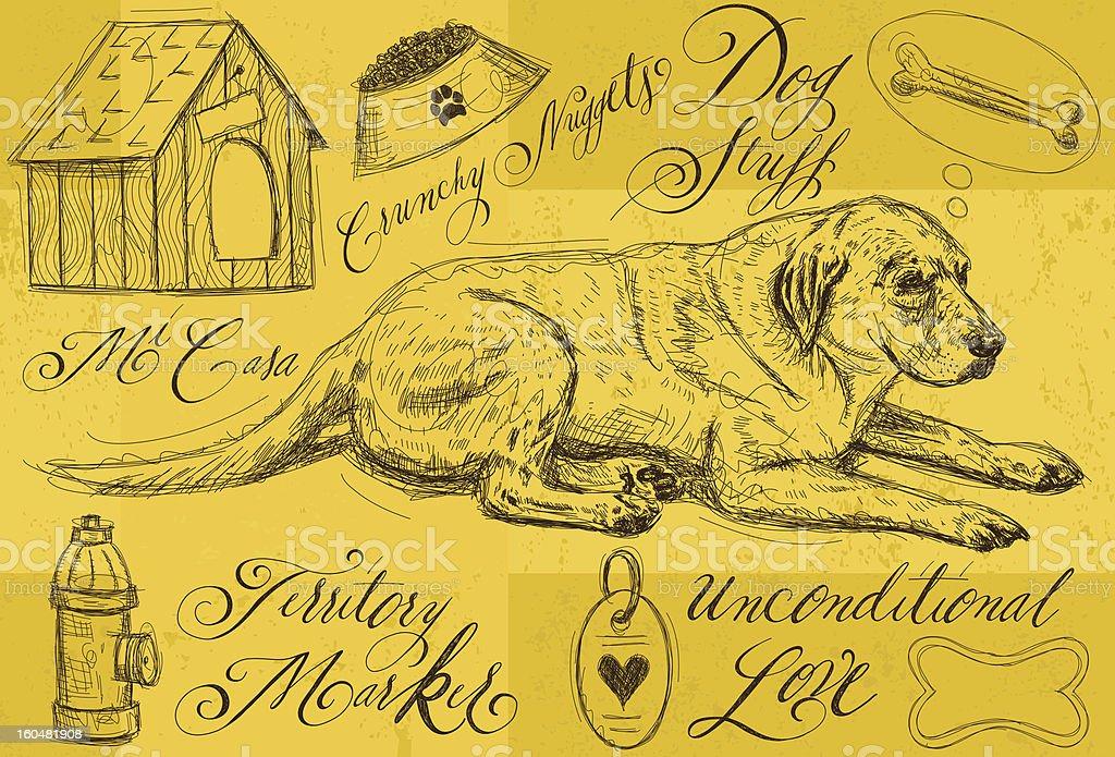 Dog stuff royalty-free stock vector art