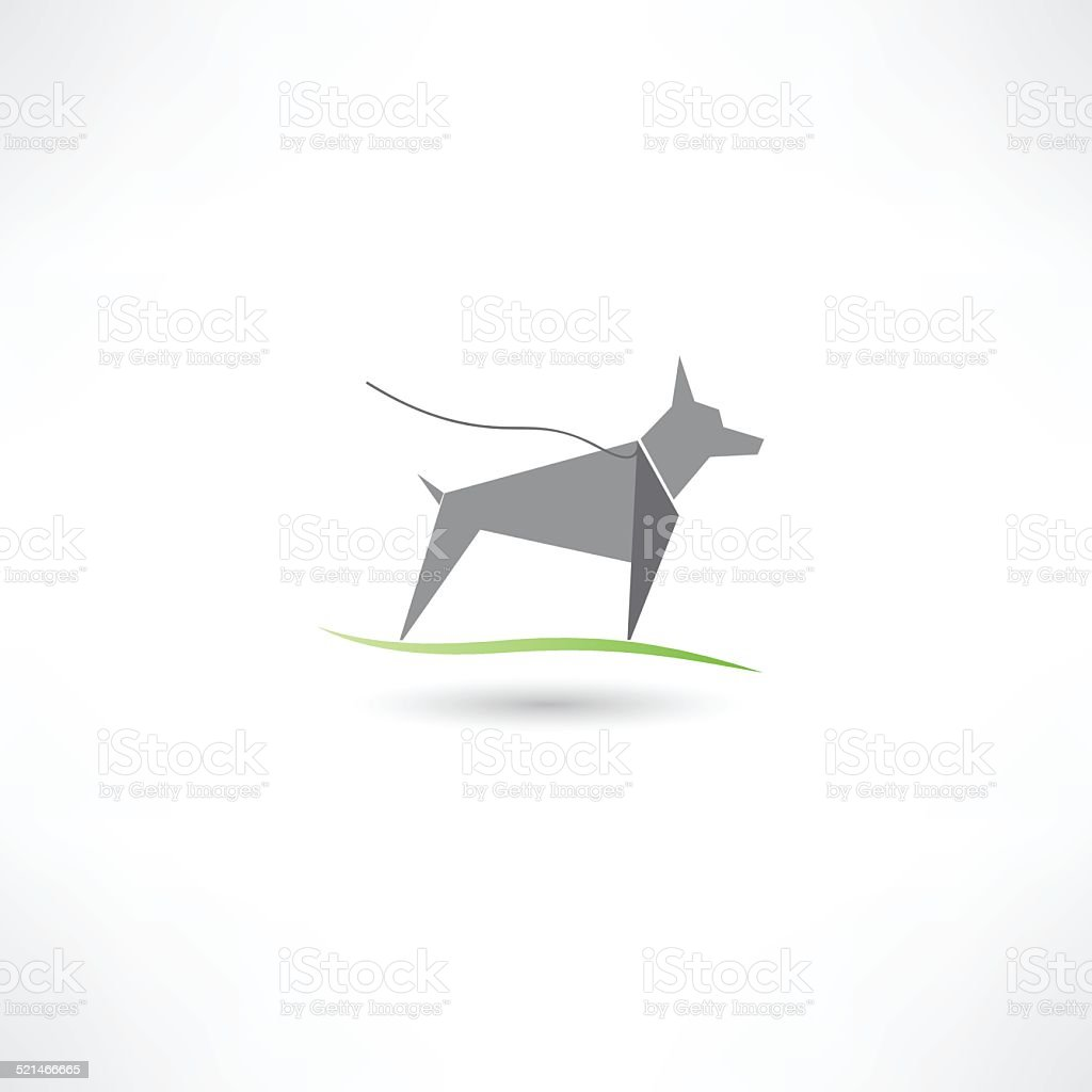 Dog symbol vector art illustration
