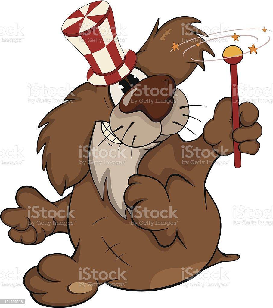 Dog the wizard.Cartoon royalty-free stock vector art