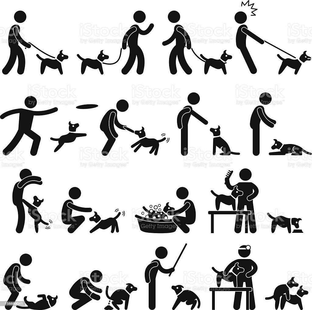 Dog Training Pictogram vector art illustration