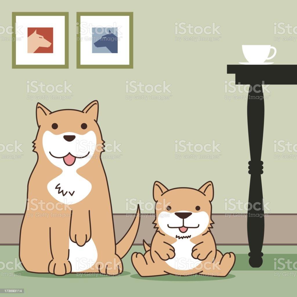 Dog(Siba inu) royalty-free stock vector art