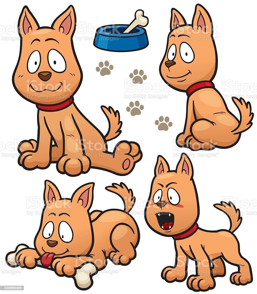 Dog vector art illustration