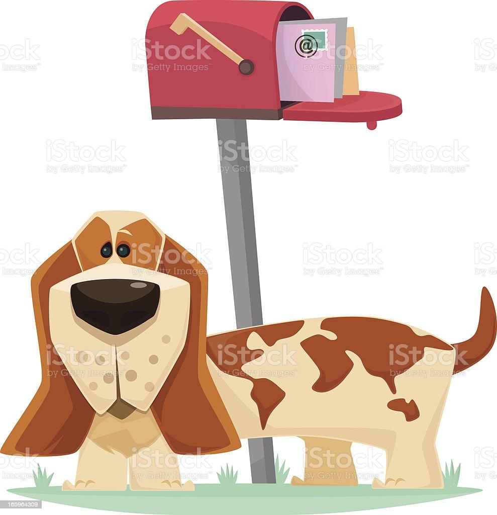 dog watching royalty-free stock vector art