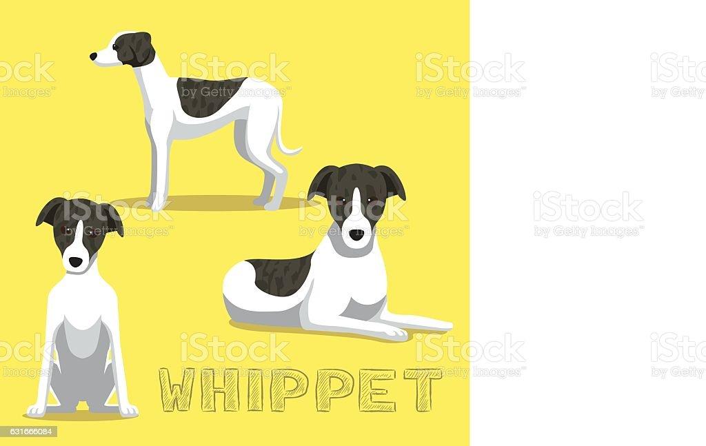 Dog Whippet Cartoon Vector Illustration vector art illustration