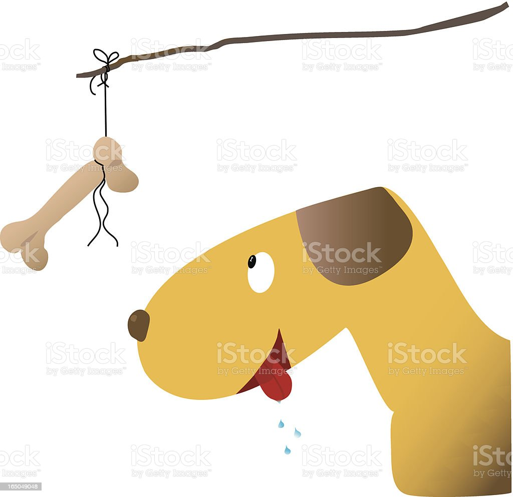 dog with bait royalty-free stock vector art
