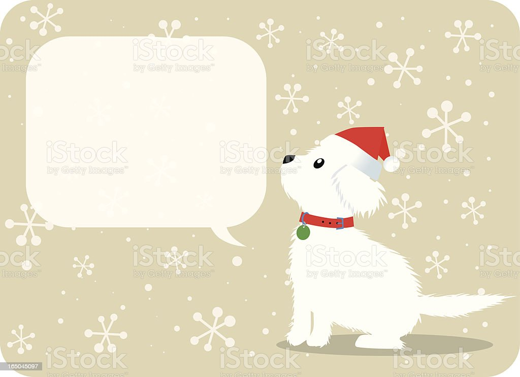 Dog with talk bubble royalty-free stock vector art