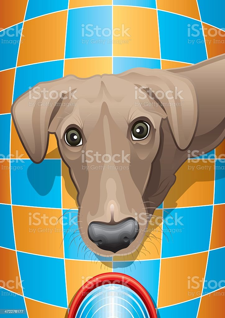 Dog with Water Bowl royalty-free stock vector art