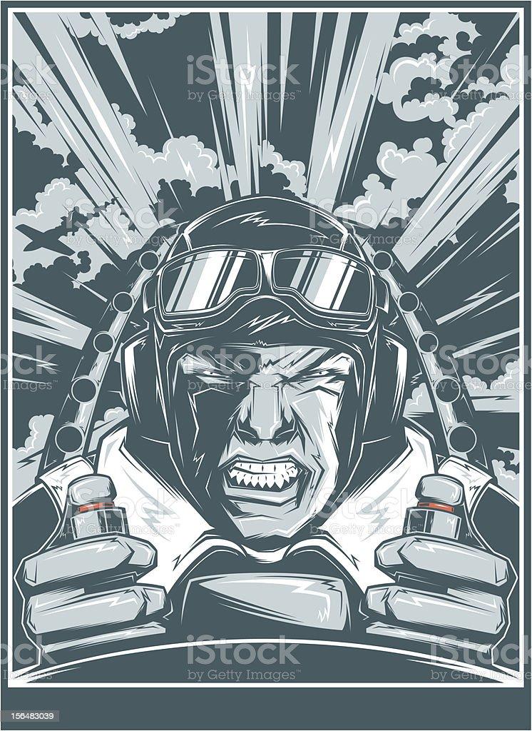 Dogfight vector art illustration