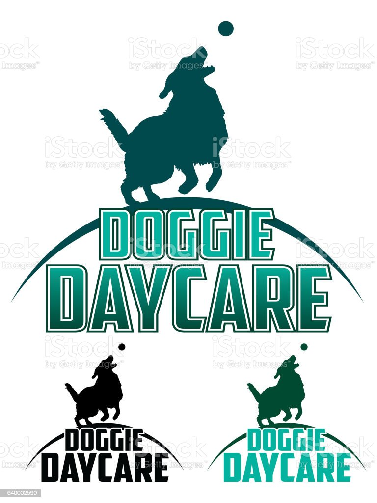 Doggie Daycare vector art illustration