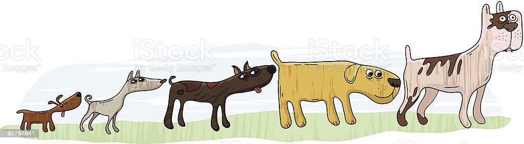 Doggie Line vector art illustration