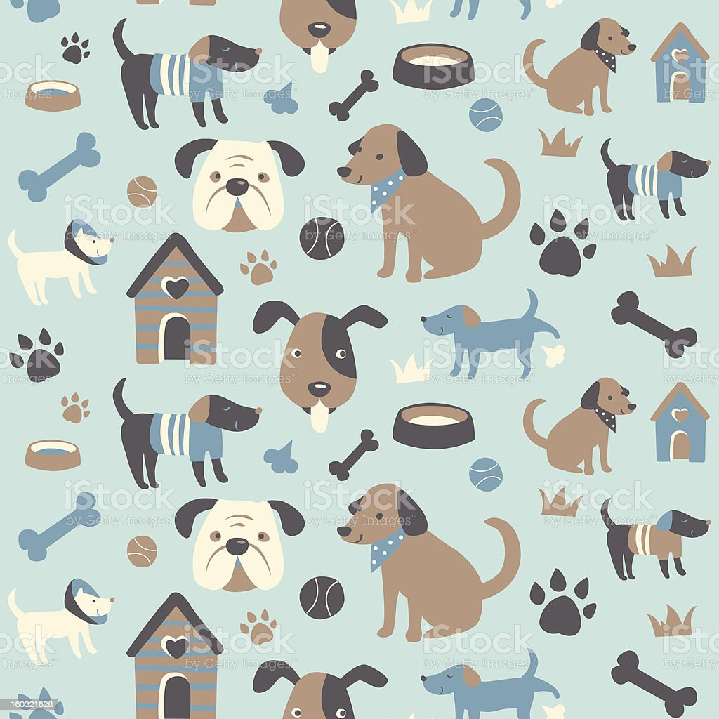 Doggy Collection: Seamless Pattern royalty-free stock vector art