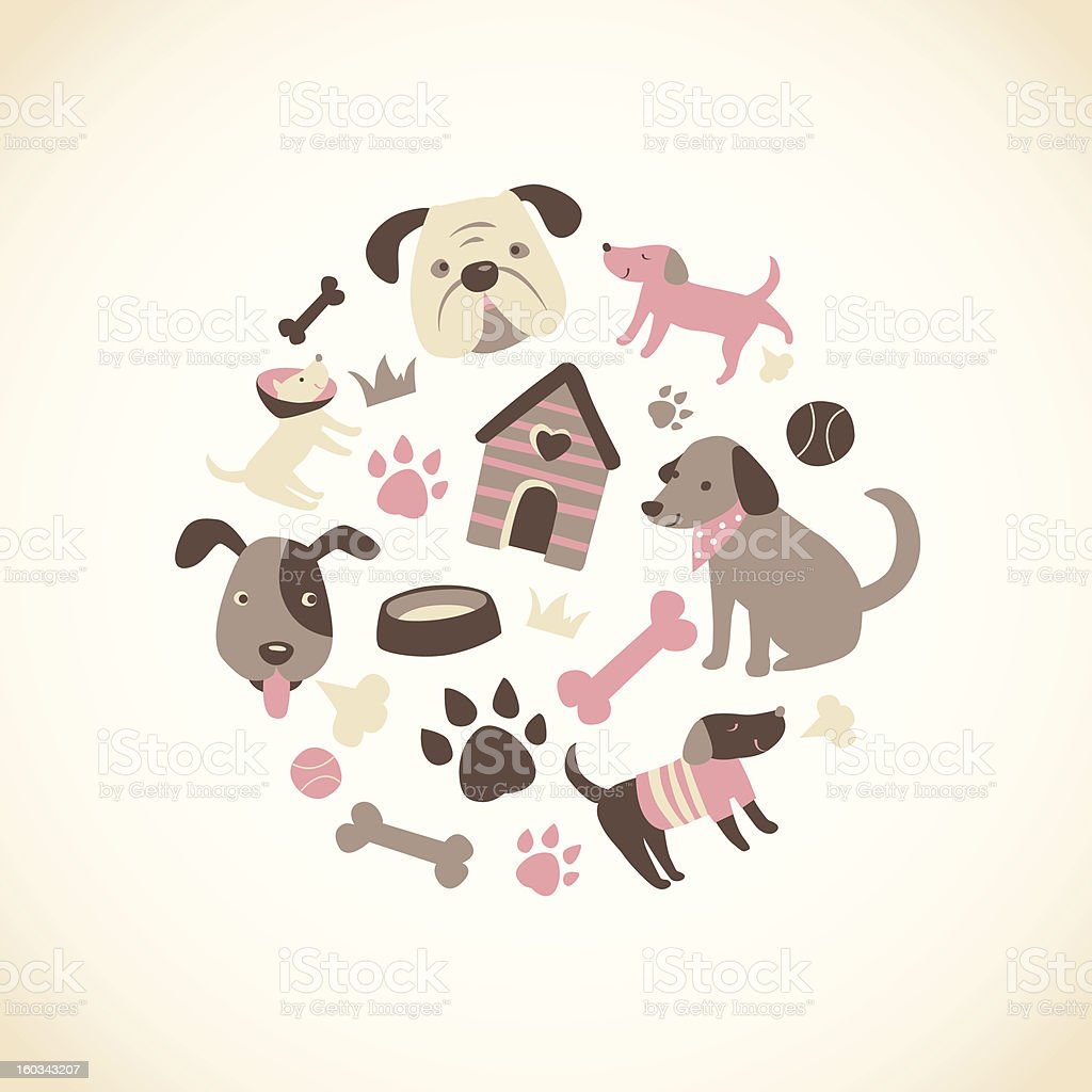 Doggy Collection royalty-free stock vector art