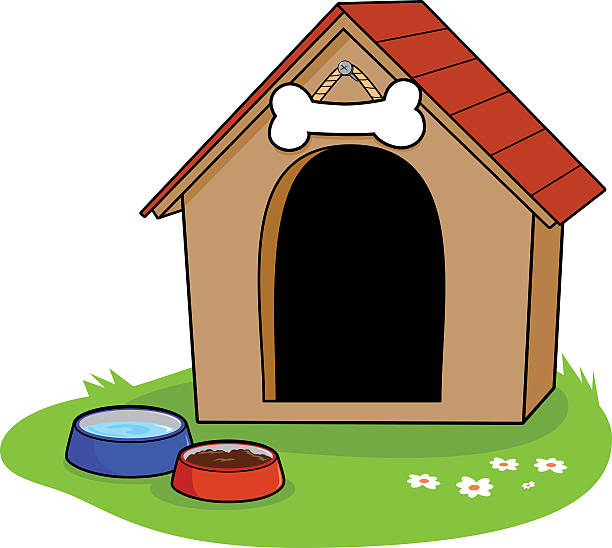 dog in doghouse clipart - photo #49