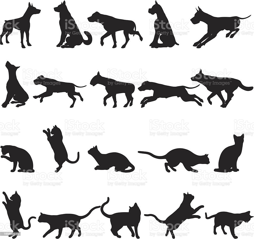 Dogs and Cats royalty-free stock vector art