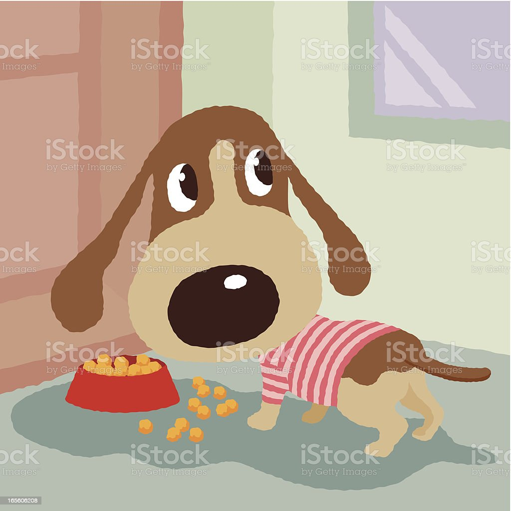 Dog's food royalty-free stock vector art