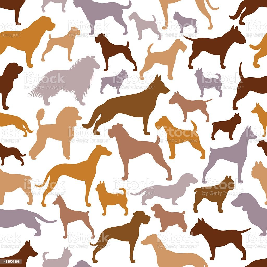 Dogs Pattern vector art illustration