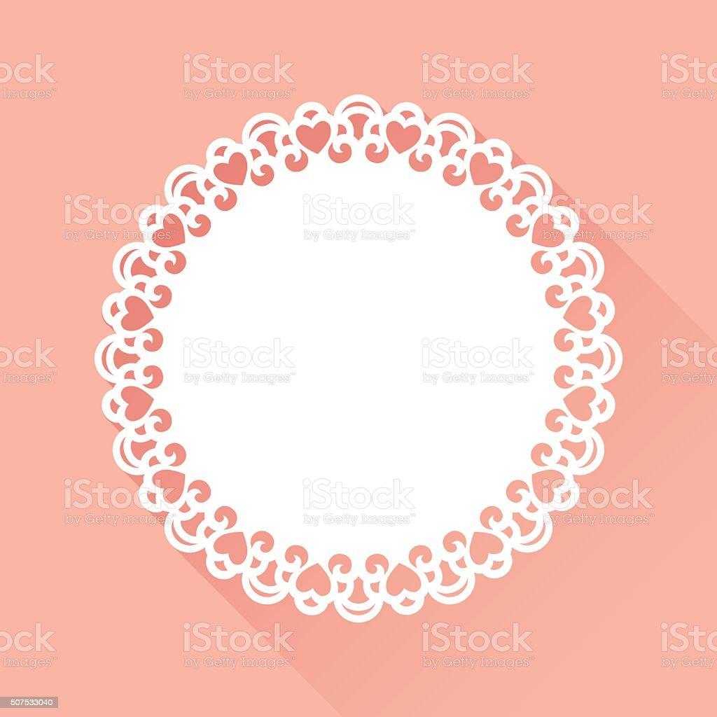 Doily Heart Pattern vector art illustration