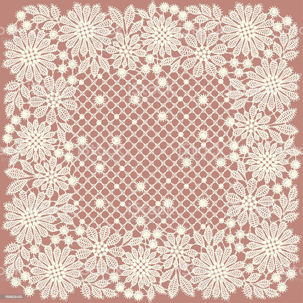 Doily. Lace. royalty-free stock vector art