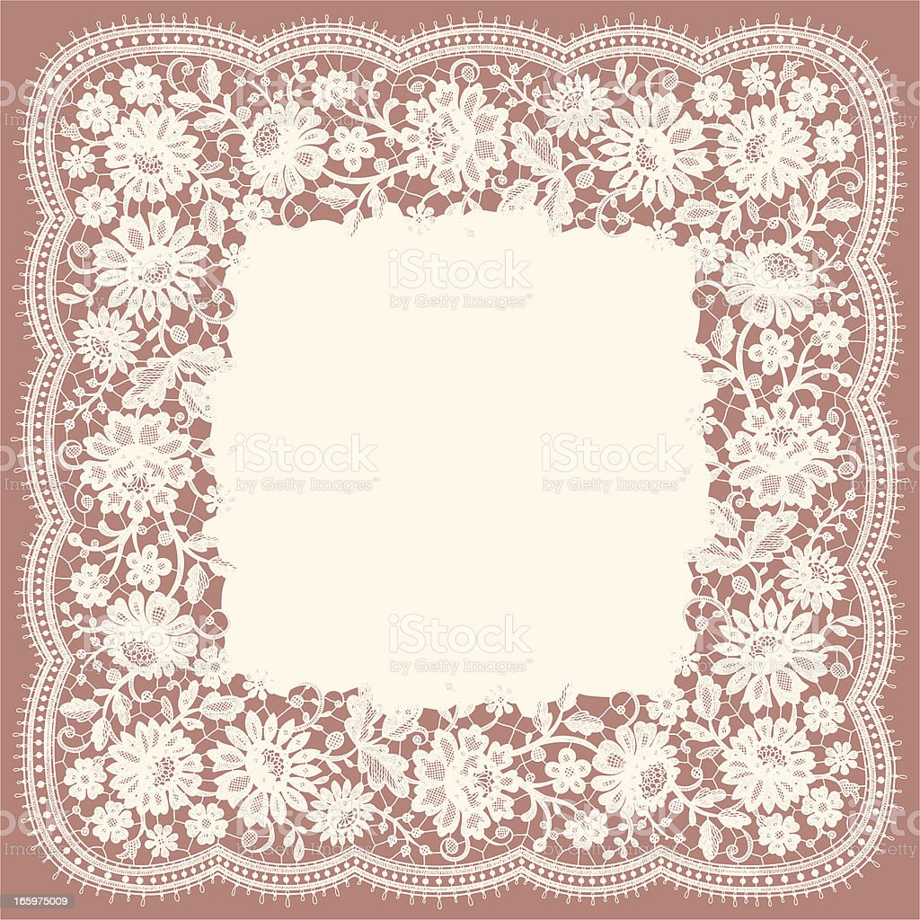 Doily Lace. royalty-free stock vector art