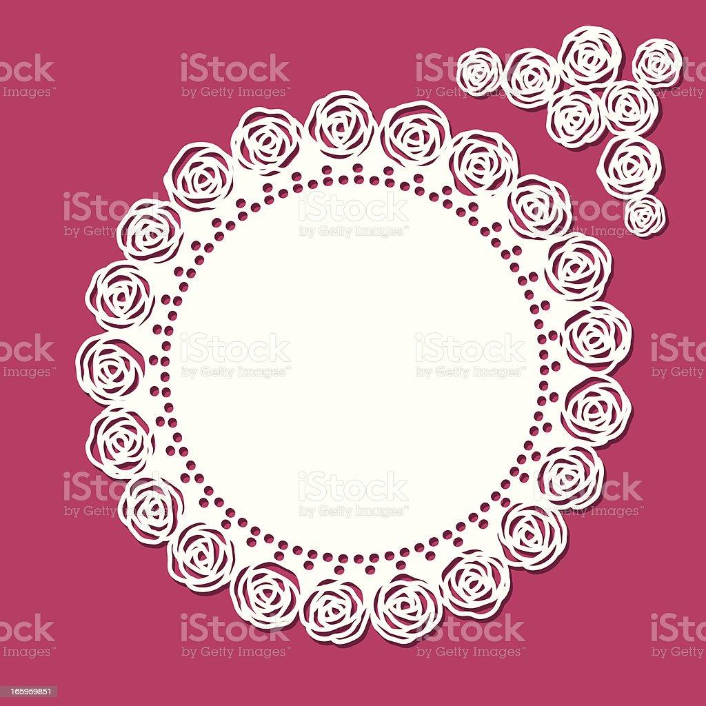 Doily - rose royalty-free stock vector art