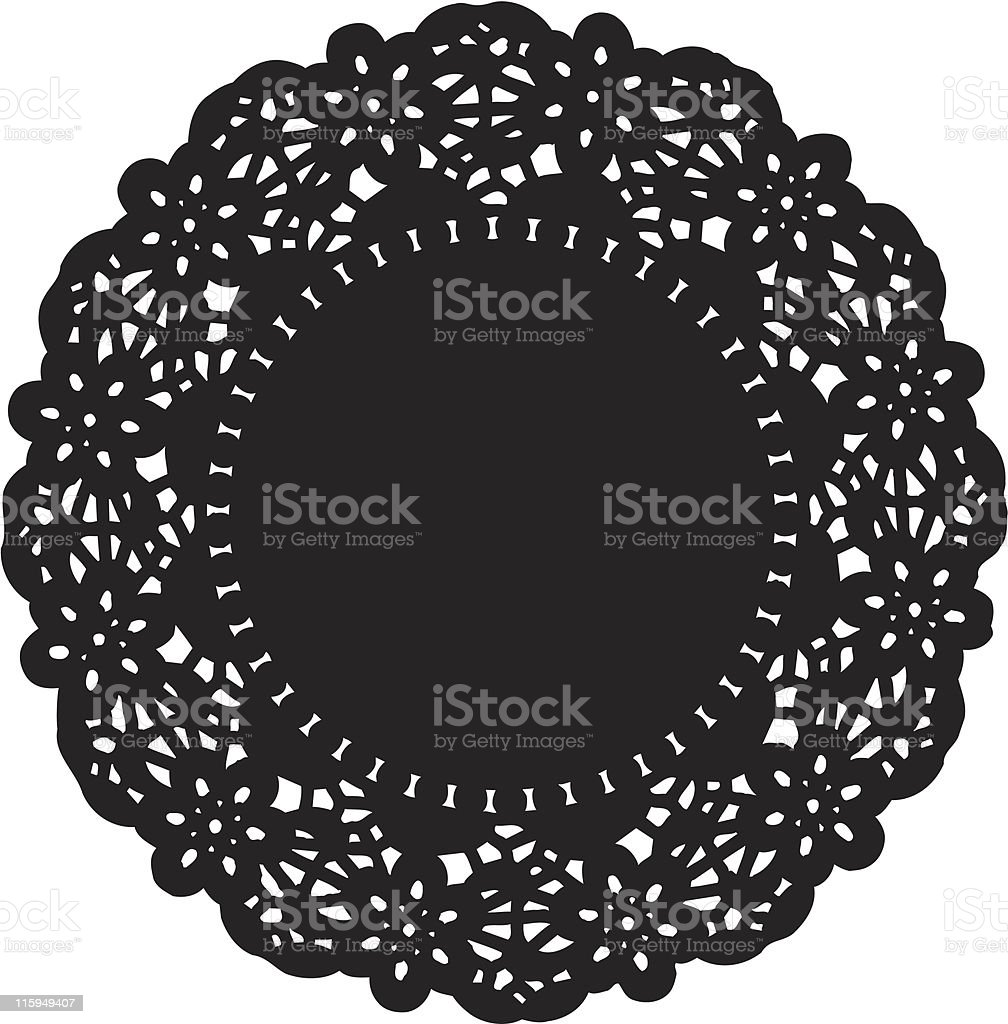 Doily vector art illustration