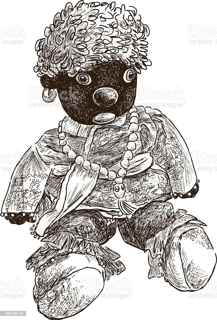 doll moor vector art illustration