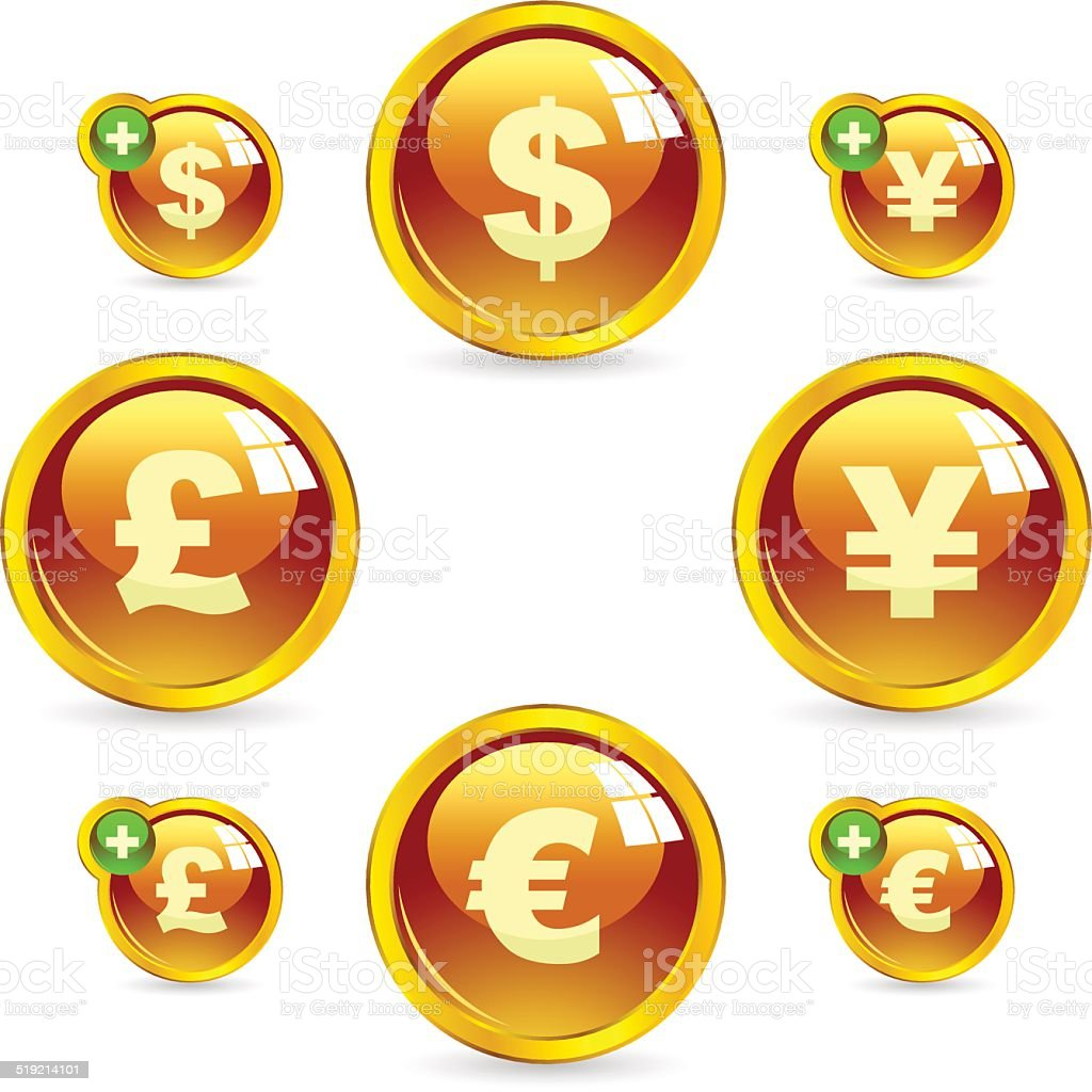 Dollar and euro icon. vector art illustration