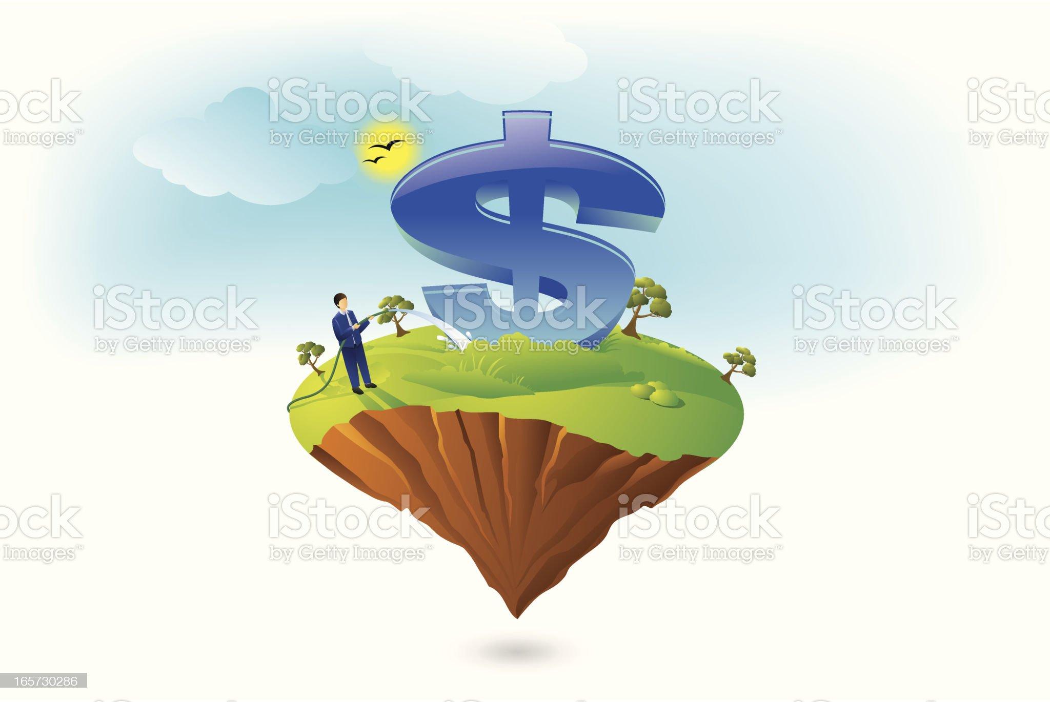 Dollar Background royalty-free stock vector art