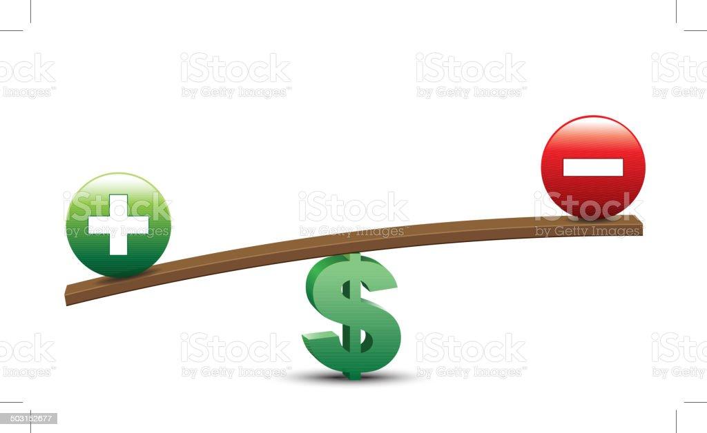 Dollar Balancing vector art illustration